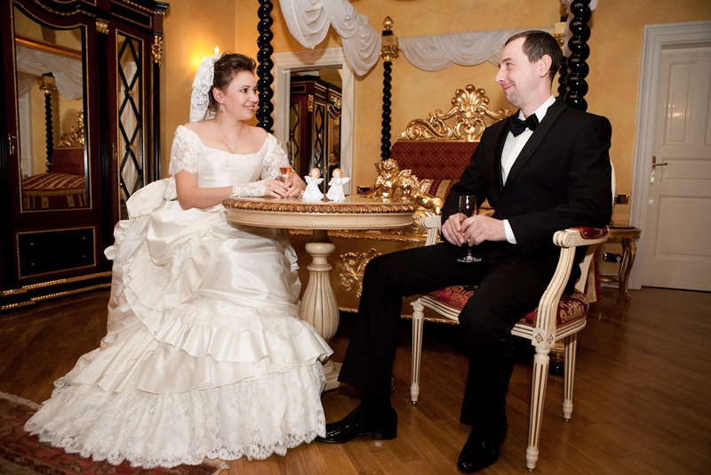 Ольга и Иван, историческая свадьба в Праге