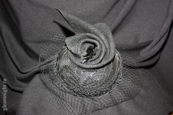 Фетровая вечерняя шляпка