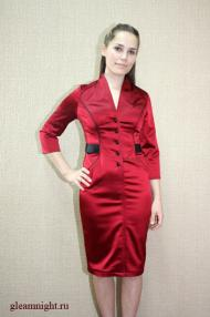 Атласное платье-футляр