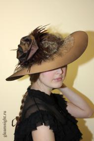 Широкополая шляпа Историческая стилизация