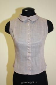 Батистовая блузка без рукавов