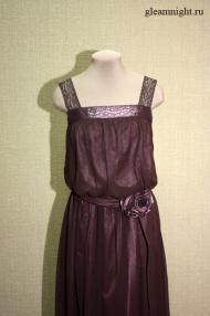 Длинное шифоновое платье, неовинтаж