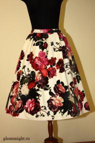 Плюшевая юбка