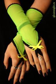 Перчатки кислотно-зеленые