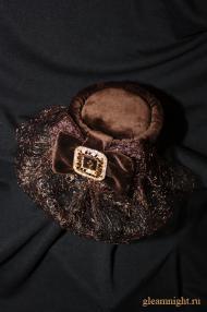 Бархатная шляпка эксклюзив