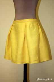 Льняная мини-юбка
