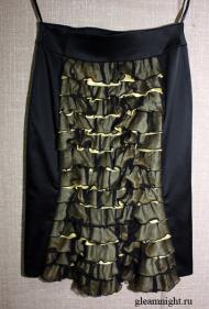 Облегающая юбка с оборками