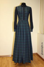 Клетчатое платье в пол