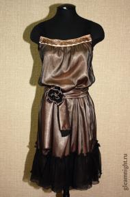 Шифоновое платье неовинтаж