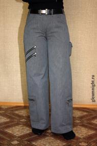 Широкие теплые штаны