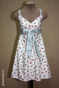 Легкое платье-неглиже