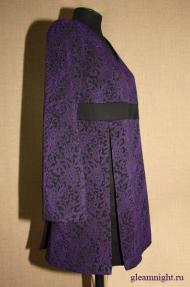 Платье со вставками