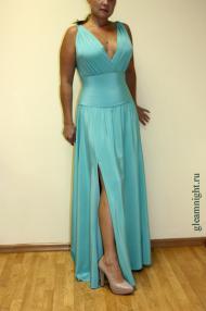 Шелковое платье на корсаже