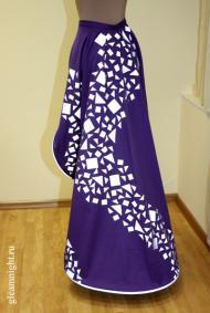 Декоративная юбка-шлейф