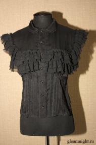 Шифоновая блузка с рюшами
