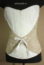 Корсет с имитацией блузки