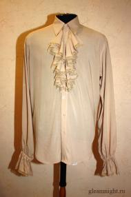 Батистовая мужская рубашка с жабо