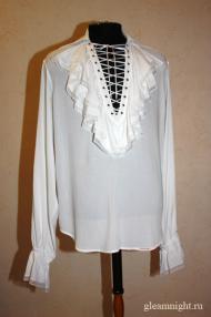Свадебная батистовая мужская рубашка