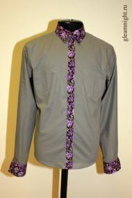 Рубашка с декоративной планкой
