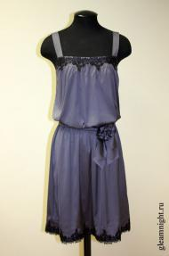 Атласное платье неовинтаж