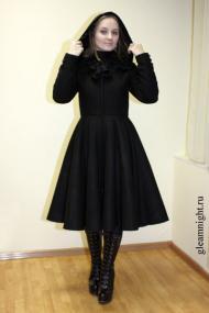 """Зимнее пальто в стиле \""""Лолита\"""""""