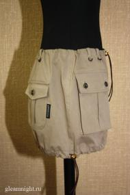 Мини-юбка в стиле сафари