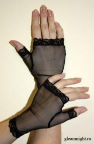 Короткие сетчатые перчатки