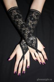 Кружевные перчатки с петелькой
