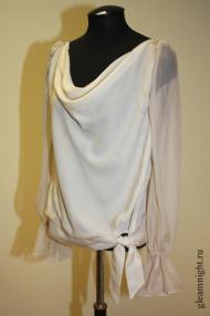 Шелковая блузка с каскадом