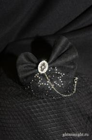 Вечерняя мини-шляпка Эксклюзив