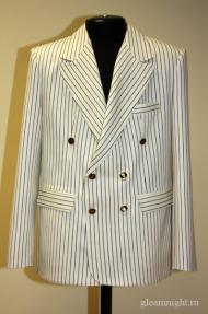 Двубортный пиджак в полоску